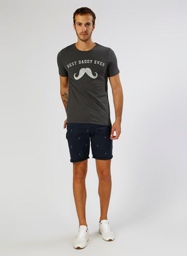 Jack & Jones Jack & Jones Baskılı Gri T-Shirt Antrasit